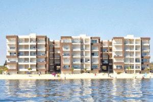 Photos vu de mer sur Résidence Amwej par kahloun immobilière